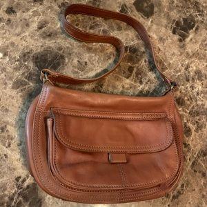 Fossil leather brown shoulder bag